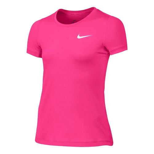 Nike Pro Dry Fit T-Shirt Girls - Pink, White
