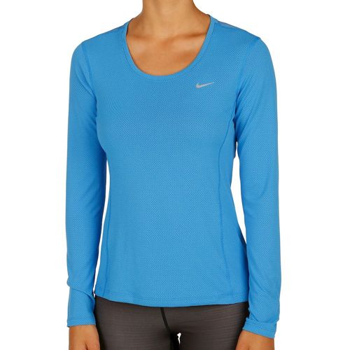 Nike Dry Contour Long Sleeve Women - Blue, Silver