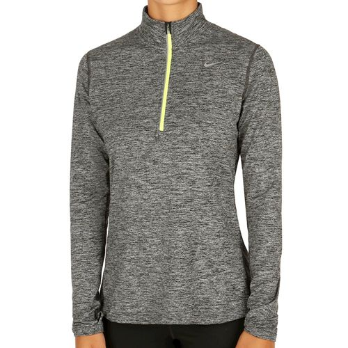 Nike Element Half-Zip Long Sleeve Women - Black, Neon Yellow