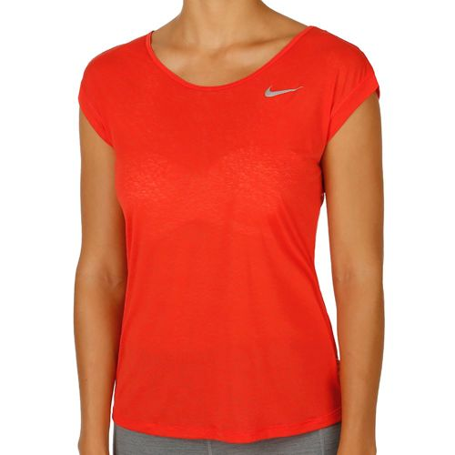 Nike Dri-Fit Cool Breeze T-Shirt Women - Red, Silver