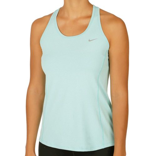 Nike Dry Contour Tank Top Women - Turquoise, Silver