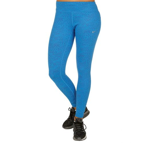 Nike Power Epic Tight Training Pants Women - Blue, Silver