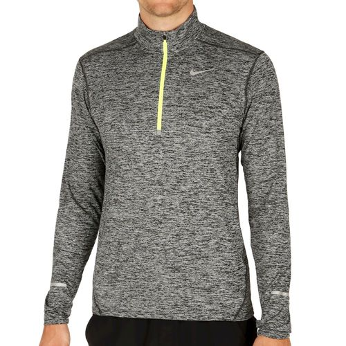 Nike Training Dri-Fit Elet Half-Zip Long Sleeve Men - Black, Neon Yellow
