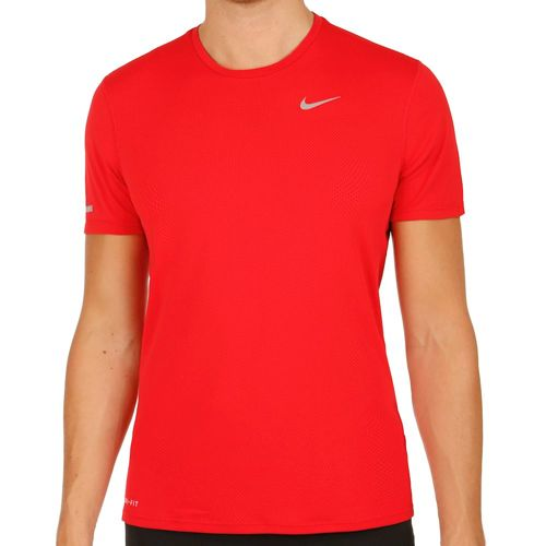 Nike Dri-Fit Contour T-Shirt Men - Red, Silver