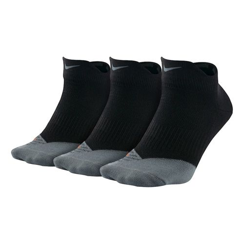 Nike Dri-Fit Lightweight Lo-Quarter Sports Socks 3 Pack - Black, Grey
