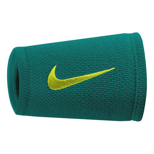 Nike Dri-Fit Stealth Doublewide Wristband - Dark Green, Light Green