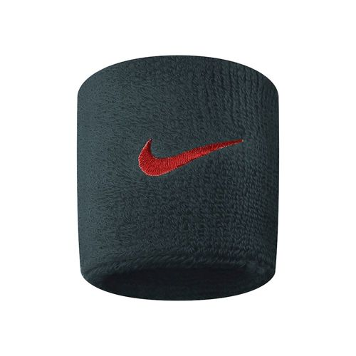 Nike Swoosh Wristband - Anthracite, Red