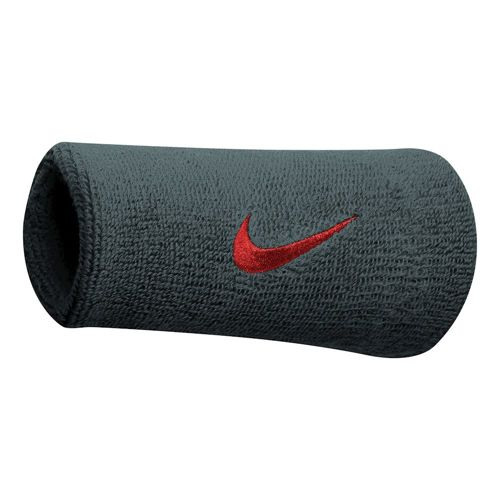 Nike Swoosh Doublewide Wristband - Anthracite, Red
