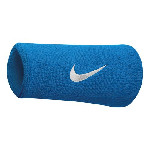 Nike Roger Federer Tennis Premier Doublewide Wristband - Turquoise, White