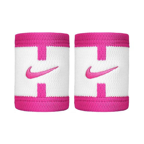 Nike Serena Williams Dri-Fit Court Logo Wristband - White, Pink
