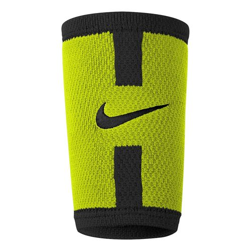 Nike Grigor Dimitrov Advantage Dri-Fit Logo Doublewide Wristband - Neon Yellow, Black