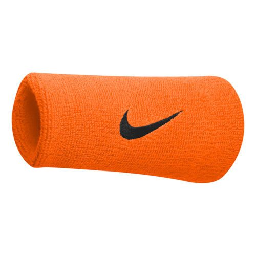 Nike Rafael Nadal Tennis Premier Doublewide Wristband - Orange, Black