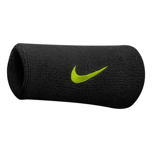 Nike Grigor Dimitrov Tennis Premier Doublewide Wristband - Black, Light Green