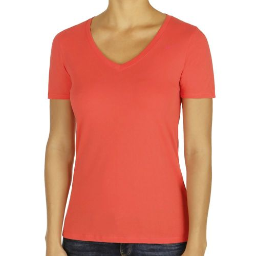 Nike Dri-Fit Cotton V-Neck 2.0 T-Shirt Women - Orange