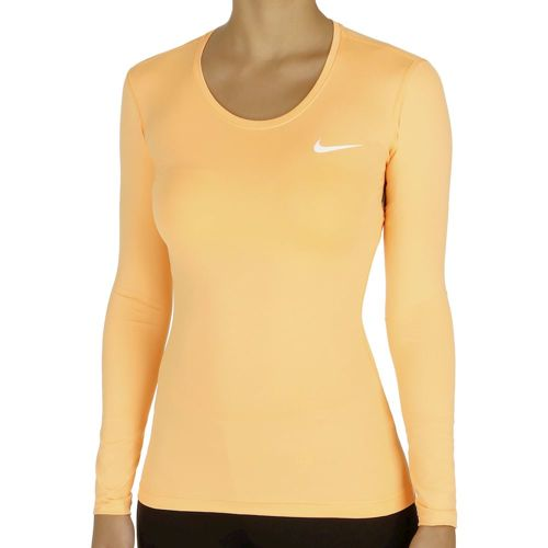Nike Pro Dri Fit Long Sleeve Women - Orange, White