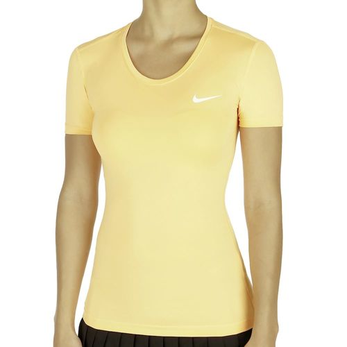 Nike Pro Dry Fit Short Sleeve Women - Orange, White