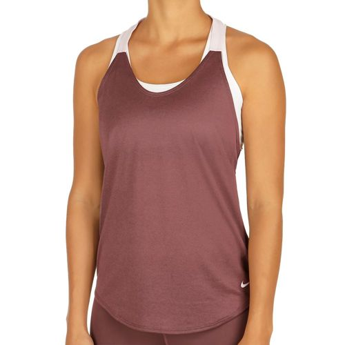 Nike Training Elastika Solid Tank Top Women - Dark Red, Lilac