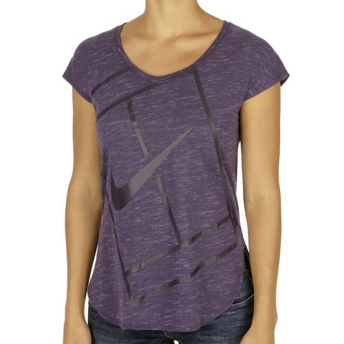 Nike Court Tennis T-Shirt Women - Violet, Black