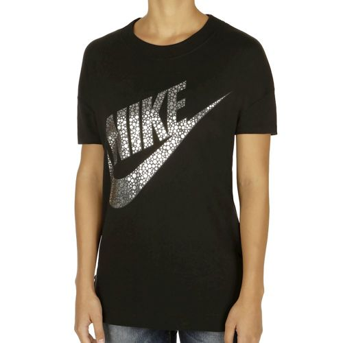 Nike Sportswear Short Sleeve Women - Black, Silver