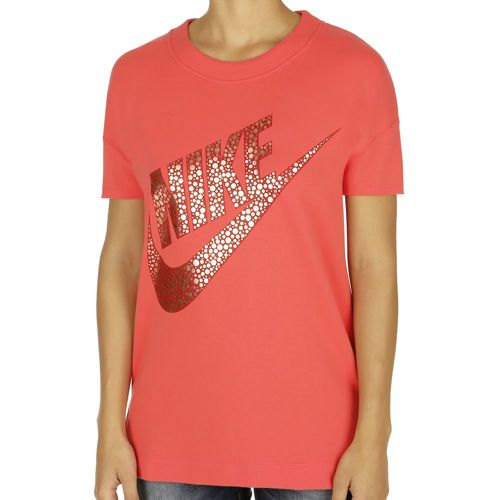 Nike Sportswear Short Sleeve Women - Red, Gold