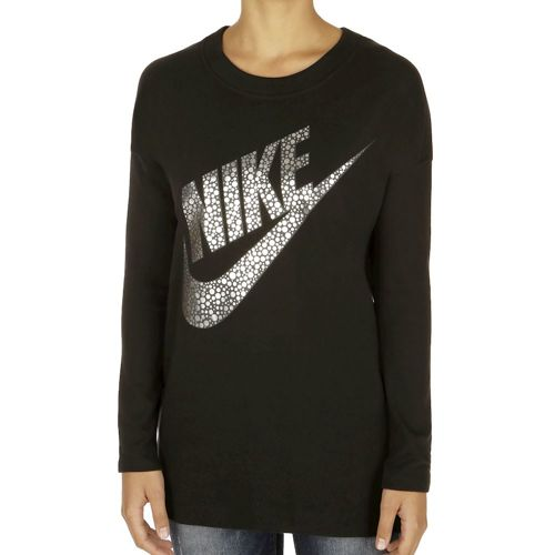 Nike Sportswear Long Sleeve Women - Black, Silver