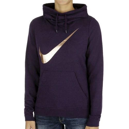 Nike Club Funnel Graphic Hoody Women - Violet, Gold