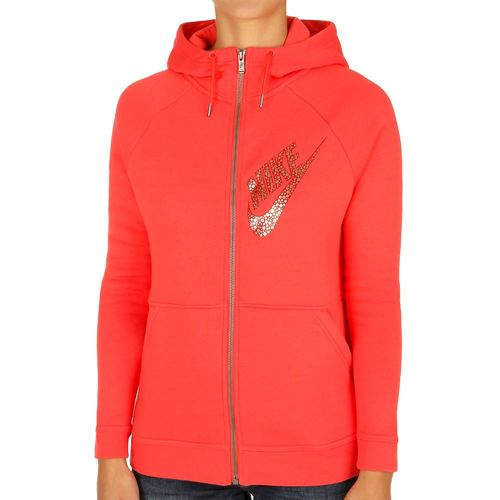 Nike Sportswear Rally Full Zip Zip Hoodie Women - Red, Gold