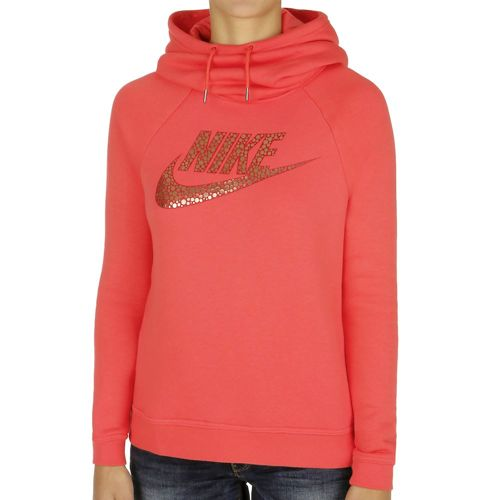 Nike Sporstwear Rally Funnel-Neck Hoody Women - Red, Gold