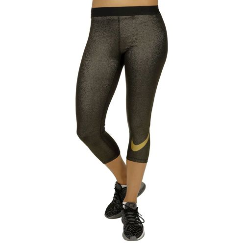 Nike Pro Dry Fit Capri Pants Women - Black, Gold