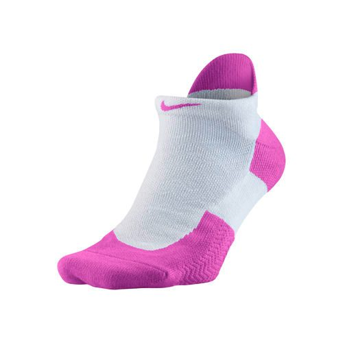 Nike Elite Tennis No-Show Socks 1 Pack - White, Violet