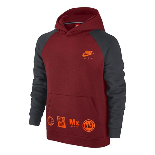 Nike Sportswear Hoody Boys - Red, Anthracite