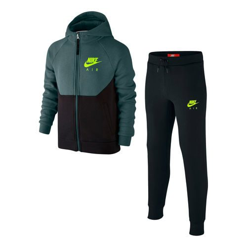 Nike Sportswear Warm Up Tracksuit Boys - Green, Black