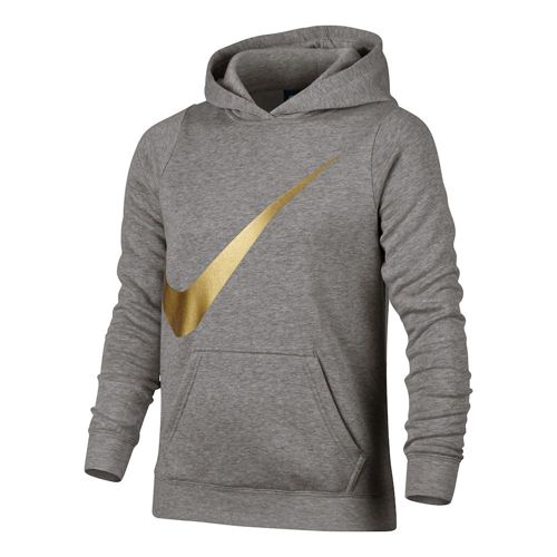 Nike Sportswear Hoody Girls - Dark Grey, Gold