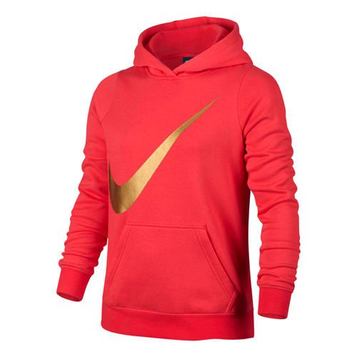 Nike Sportswear Hoody Girls - Red, Gold