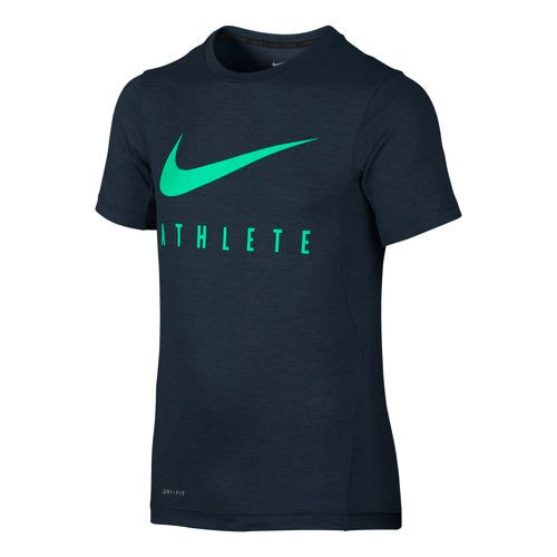 Nike Training Top Short Sleeve Boys - Dark Blue, Green