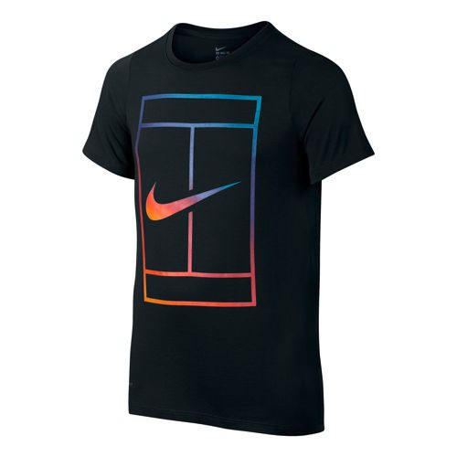 Nike Irridescent Court T-Shirt Boys - Black