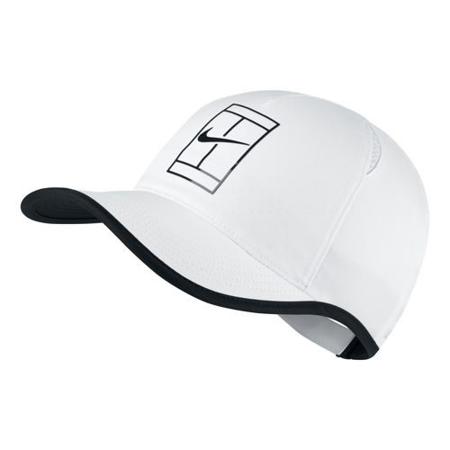 Nike Court AeroBill Featherlight Cap Men - White, Black