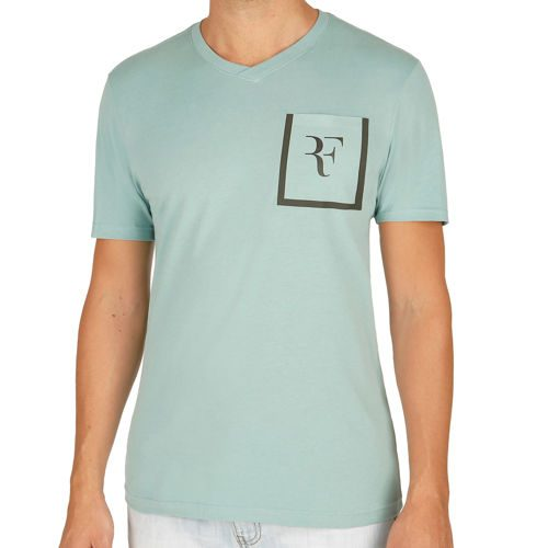 Nike Roger Federer Stealth V-Neck T-Shirt Men - Petrol