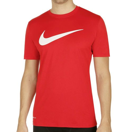 Nike Legend Mesh Swoosh Training T-Shirt Men - Red, White