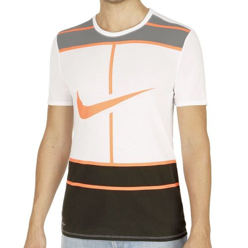 Nike Court Court Dry Logo T-Shirt Men - White, Orange