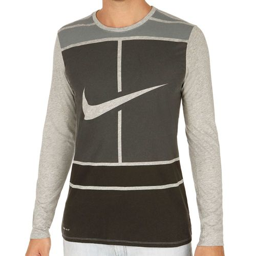 Nike Court Practice Long Sleeve Men - Grey, Anthracite