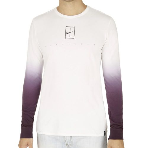 Nike Court EOS Long Sleeve Men - White, Violet