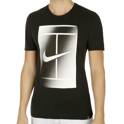 Nike Court EOS Short Sleeve Men - Black, White