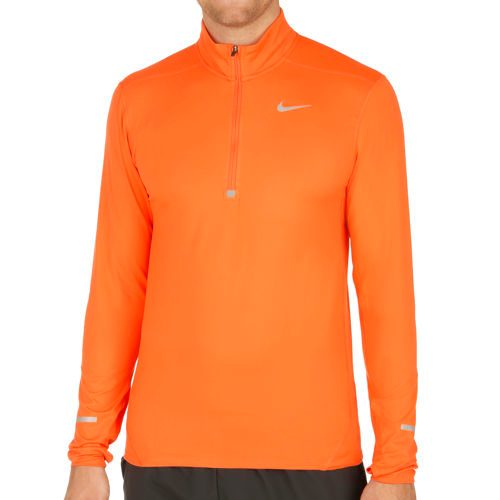 Nike Dri-Fit Element Half-Zip Long Sleeve Men - Orange, Silver