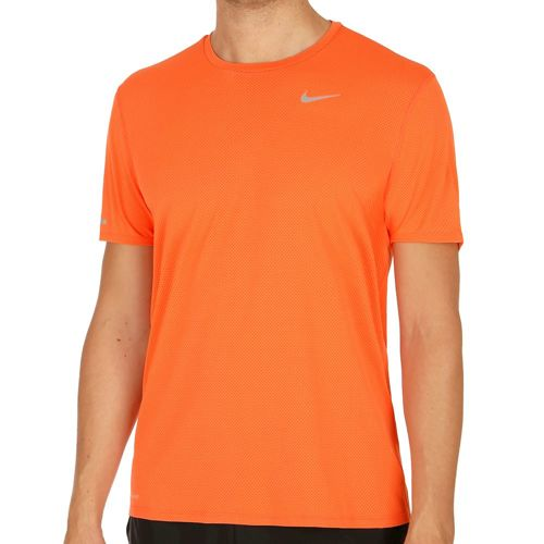 Nike Dri-Fit Contour T-Shirt Men - Orange, Silver