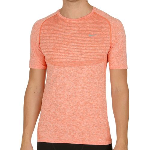 Nike Dri-Fit Knit Short Sleeve Men - Orange, Silver