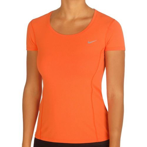Nike Dry Contour T-Shirt Women - Orange, Silver