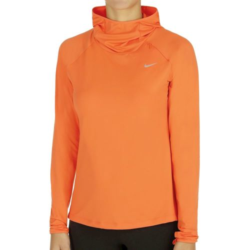 Nike Dry Element Long Sleeve Women - Orange, Silver