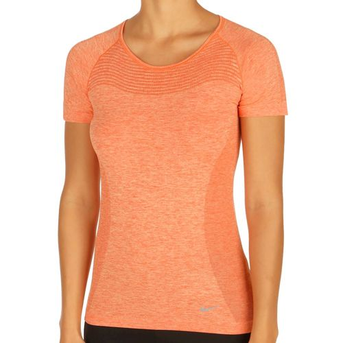 Nike Dri-FIT Knit Short Sleeve Women - Orange, Silver