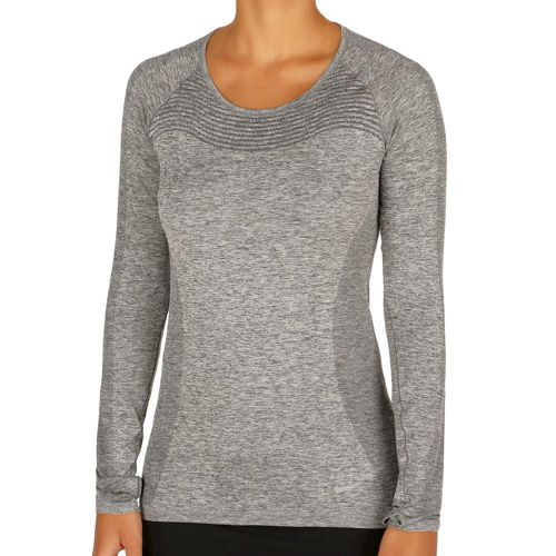 Nike Dri-FIT Knit Long Sleeve Women - Black, Silver